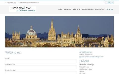 Screenshot of Contact Page interviewadvantage.co.uk - Contact Us | Interview Advantage London & Oxford - captured Nov. 3, 2014