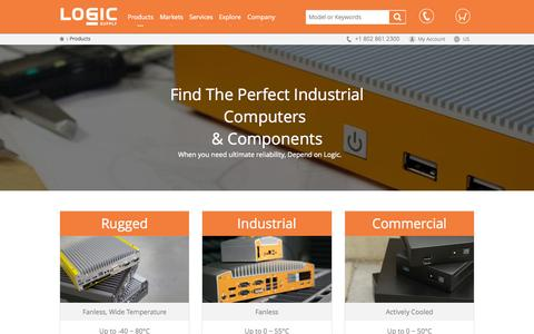Screenshot of Products Page logicsupply.com - Products  | Logic Supply - captured Nov. 18, 2015