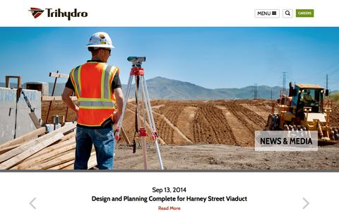 Screenshot of Press Page trihydro.com - News & Media | Engineering and Environmental Consulting - Trihydro Corporation - captured Nov. 5, 2014