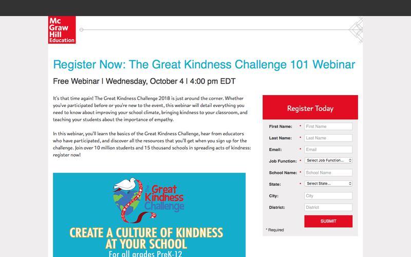 Great Kindness Challenge 101 Webinar