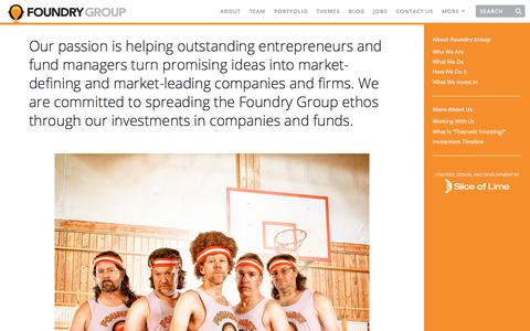 Screenshot of About Page foundrygroup.com - About Foundry Group | Foundry Group - captured June 16, 2017