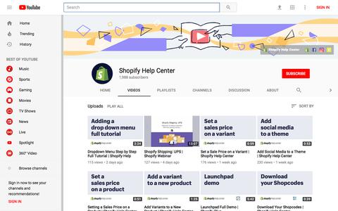 Shopify Help Center - YouTube - YouTube