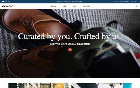 Screenshot of Home Page olukai.com - OluKai Hawaiian-Inspired Footwear : Shoes, Sandals, Boots - captured Sept. 24, 2018