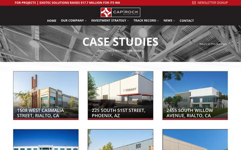 Screenshot of Case Studies Page caprock-partners.com - CASE STUDIES | CapRock Partners - captured July 15, 2018