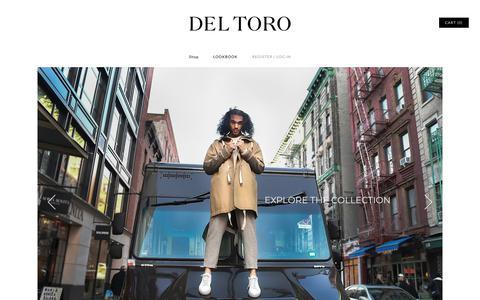 Screenshot of Home Page deltoro.com - Handmade Italian Shoes | Del Toro Shoes - captured July 21, 2019