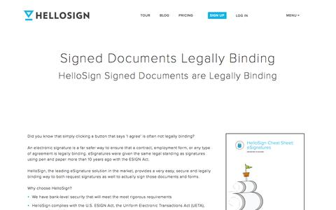 Signed Documents Legally Binding