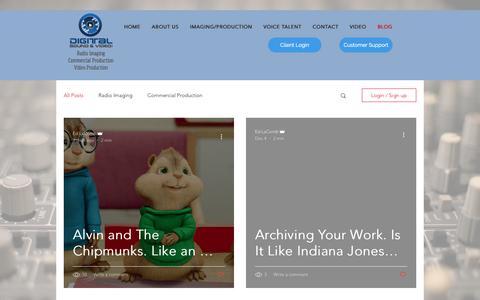 Screenshot of Blog digitalsoundandvideo.com - dsvinc1 | BLOG - captured Dec. 19, 2018