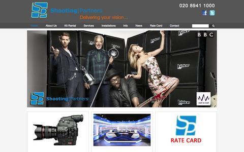 Screenshot of Home Page shooting-partners.co.uk - Shooting Partners - captured Sept. 30, 2014