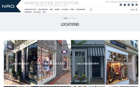 Screenshot of Jobs Page Locations Page northriveroutfitter.com - Locations - captured June 19, 2017