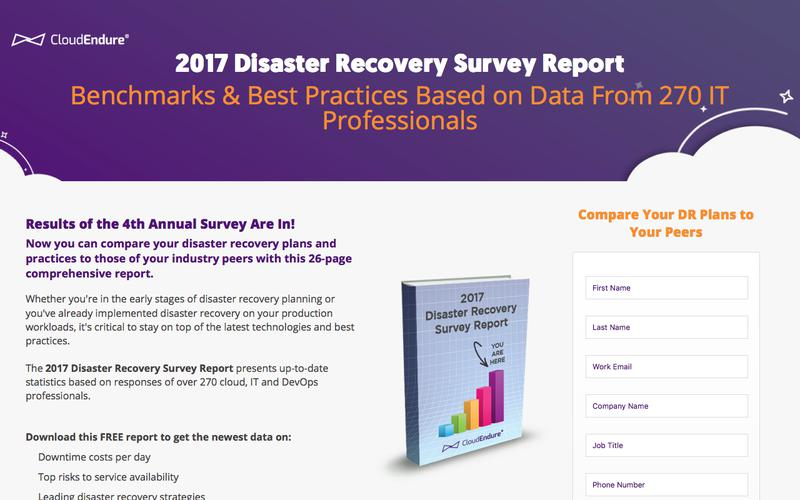 2017 Disaster Recovery Survey Report