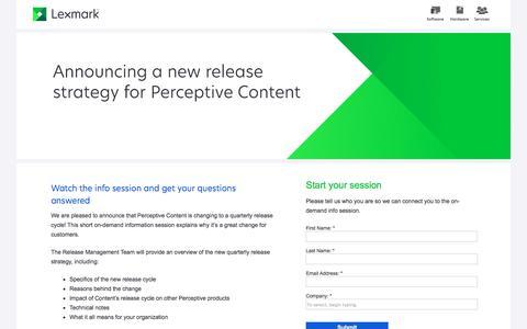 Screenshot of Landing Page lexmark.com - Lexmark | Change Management - captured Dec. 4, 2016