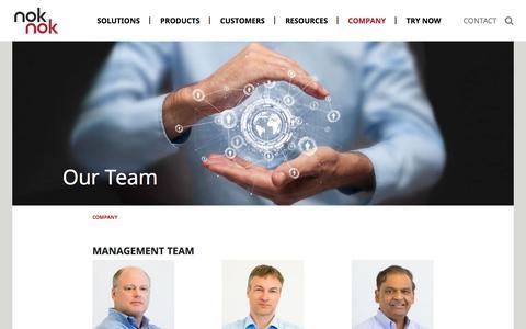 Screenshot of Team Page noknok.com - Our Team | Nok Nok Labs - captured Dec. 6, 2019