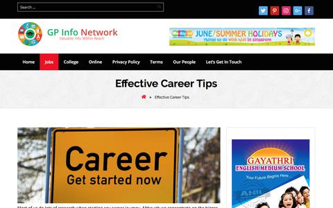 Screenshot of Jobs Page gepi.co - Effective Career Tips » GP Info Network - captured Dec. 6, 2017
