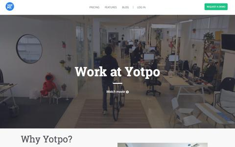 Screenshot of Jobs Page yotpo.com - Yotpo is hiring | Yotpo - Customer Content Marketing Solution - captured Oct. 2, 2015