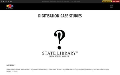 Screenshot of Case Studies Page studios301.com - Case Studies – Studios 301 - captured Oct. 20, 2018
