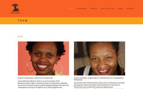 Screenshot of Team Page akilidada.org - Team Ń Akili Dada - captured Dec. 24, 2015