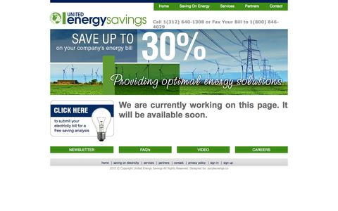 Screenshot of Privacy Page Signup Page Jobs Page Login Page electronsavers.com - United Energy Savings - captured Oct. 22, 2014