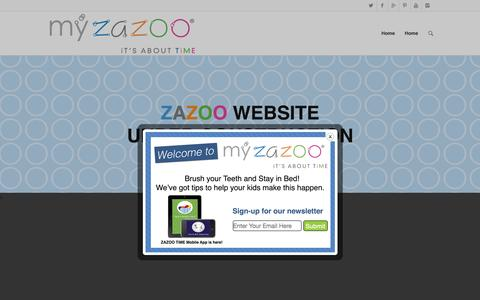 Screenshot of Home Page myzazoo.com - MyZAZOO   iT'S ABOUT TiME - captured Sept. 5, 2015