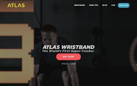 Screenshot of Home Page atlaswearables.com - Atlas Wearables | Atlas Wristband | Fitness Tracker - captured Feb. 11, 2016