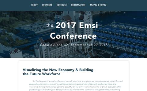 2017 Emsi Conference - Visualizing the New Economy & Building the Future Workforce