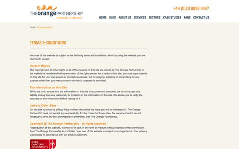 Screenshot of Terms Page topff.co.uk - Terms & Conditions - The Orange Partnership - captured Oct. 6, 2014