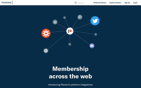 Screenshot of Developers Page patreon.com - Developers   Patreon - captured Oct. 28, 2017
