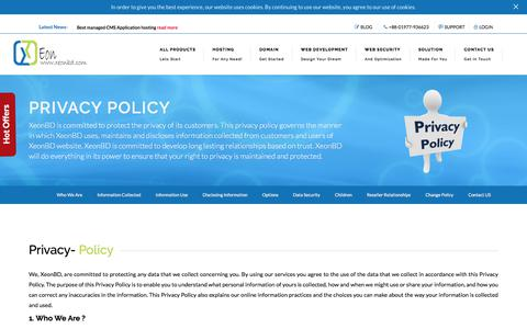 Screenshot of Privacy Page xeonbd.com - Privacy Policy in XeonBD at Bangladesh - captured Aug. 20, 2017