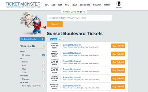 Sunset Boulevard Tickets - Cheapest Tickets Lowest Prices