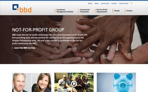 Screenshot of Home Page bbdcpa.com - BBD, LLP |  Certified Public Accountants | Philadelphia, PA - captured Sept. 10, 2015