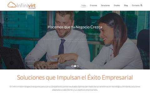 Screenshot of Home Page infinivirt.com - Infinivirt Technologies - Soluciones de Telecomunicaciones & Data Center - captured Oct. 15, 2017