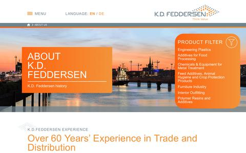 Screenshot of About Page kdfeddersen.com - About K.D. Feddersen - captured Oct. 16, 2017