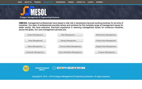 Screenshot of Team Page omesol.com - Octagon Management & Engineering Solutions - MANAGEMENT - captured Oct. 18, 2018