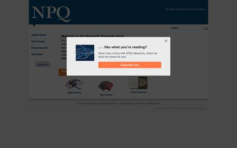 Nonprofit Quarterly Store   Non Profit Organizations