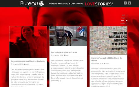 Screenshot of Blog Press Page lovestories.ma - LoveStories | Webzine Marketing & Creation de - captured Oct. 22, 2014
