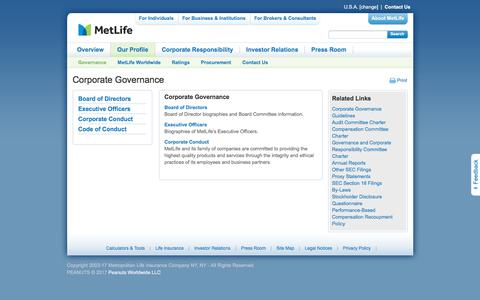 MetLife Corporate Governance