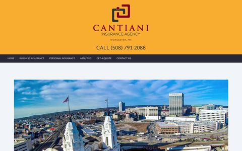 Screenshot of About Page cantianiagency.com - Cantiani Insurance Agency Worcester, Massachusetts - Cantiani Insurance Company, Asset Protection - captured July 12, 2017