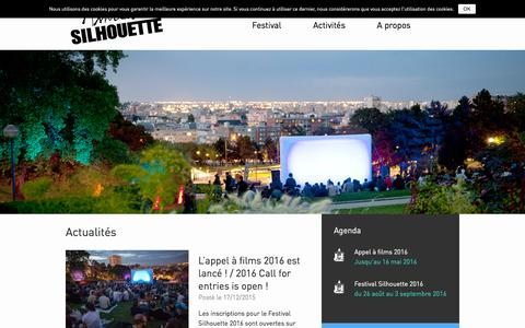 Screenshot of Home Page association-silhouette.com - Accueil - Association Silhouette - captured Dec. 26, 2015