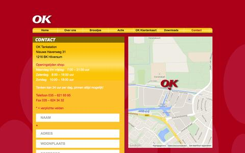 Screenshot of Contact Page okhilversum.nl - Contact | OK Tankstations - captured Oct. 26, 2014