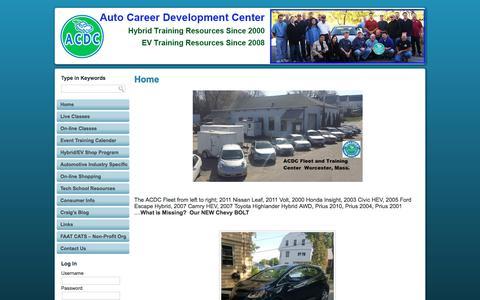 Screenshot of Home Page fixhybrid.com - Automotive Career Development Center - captured Oct. 9, 2017