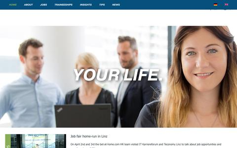 Screenshot of Jobs Page bet-at-home.com - Home - bet-at-home.com - Career - captured July 19, 2019