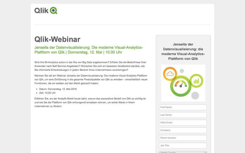 Qlik Webinar – Jenseits der Datenvisualisierung: Die moderne Visual-Analytics-Plattform von Qlik -