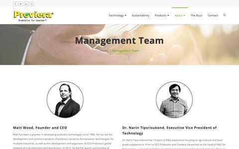 Screenshot of Team Page proviera.com - Management Team | Proviera - captured Oct. 24, 2018