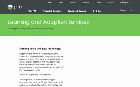 Learning and Adoption Services | PTC
