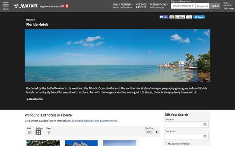 Find Florida Hotels by Marriott