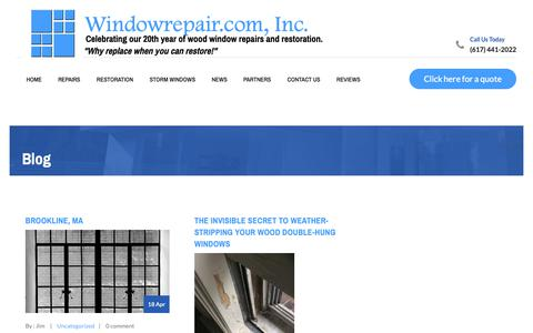 Screenshot of Press Page windowrepair.com - Blog - Windowrepair.com, Inc. - captured Oct. 20, 2018