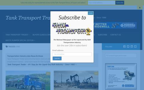 Screenshot of Jobs Page tanktransport.com - Transportation Jobs - News Archives - Tank Transport Trader - captured Sept. 24, 2018