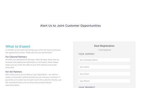 Deal Registration - Partner Deal Registration Form | OneLogin
