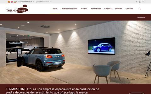 Screenshot of Home Page thermostone.es - Thermostone - Producción de piedra artificial, rustica, ladrillos decorativos - captured Oct. 18, 2018