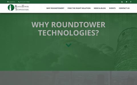 Screenshot of About Page roundtower.com - RoundTower Technologies | Control. Protect. Leverage. - captured Nov. 6, 2015
