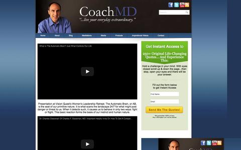 Screenshot of Press Page charlesglassmanmd.com - Coach MD Interviews - captured Jan. 29, 2016